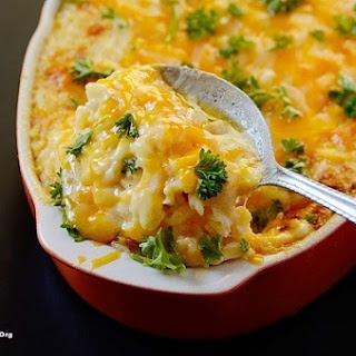 Ham and Cheese Baked Rice Casserole.