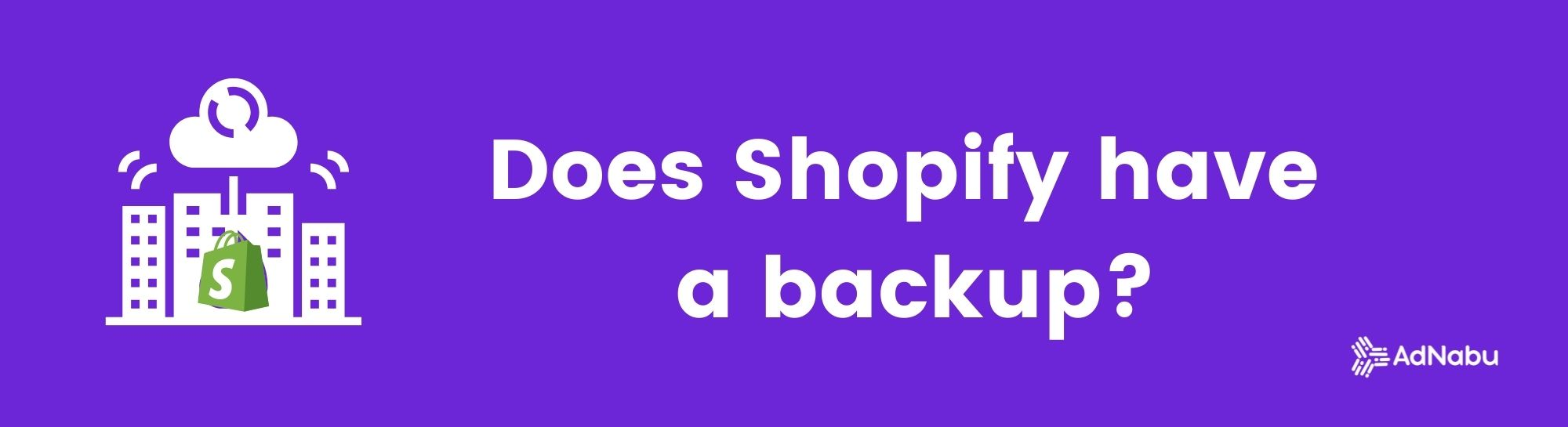 Does shopify have a backup