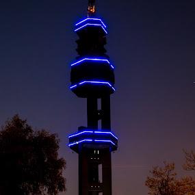 telkom tower by Dawie Nolte - Buildings & Architecture Other Exteriors ( lights, tower, telkom, neon, pretoria )