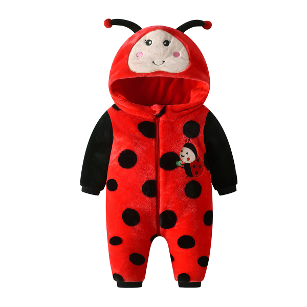 Baby Cute Ladybug Coveralls