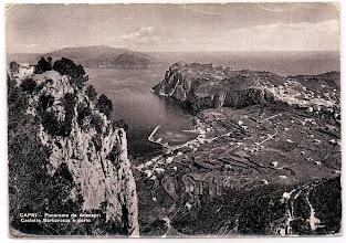 Photo: Capri - Panorama da Anacapri - Castello Barbarossa e porto  *  Ed. Brunner & C., Como