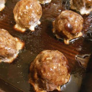 Hoisin Beef and Sesame Meatballs.
