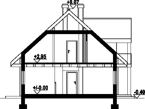 Jaworki 13 dw - Przekrój