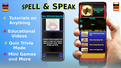 Spell & Speak (Quiz + Word Games) android2mod screenshots 1