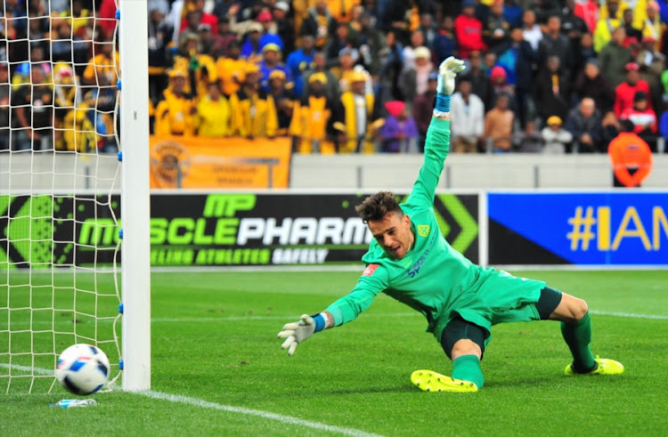 Cape Town City FC goalkeeper Sage Stephens during the Absa Premiership match against Kaizer Chiefs at Cape Town Stadium on September 13, 2017 in Cape Town, South Africa.