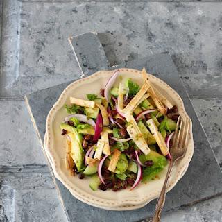 Avocado, Black Beans and Tortilla Salad.