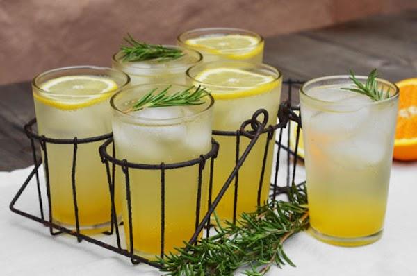 Rosemary-citrus Champagne Cocktails Recipe