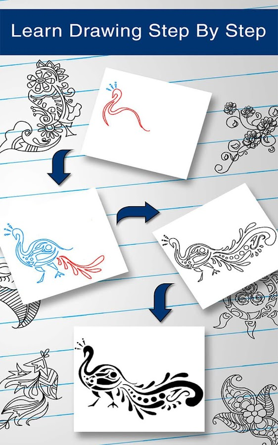 Mehndi Step By Step How To Do It : How to draw mehndi designs android apps on google play