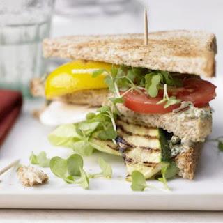 Vegetarian Club Sandwiches.