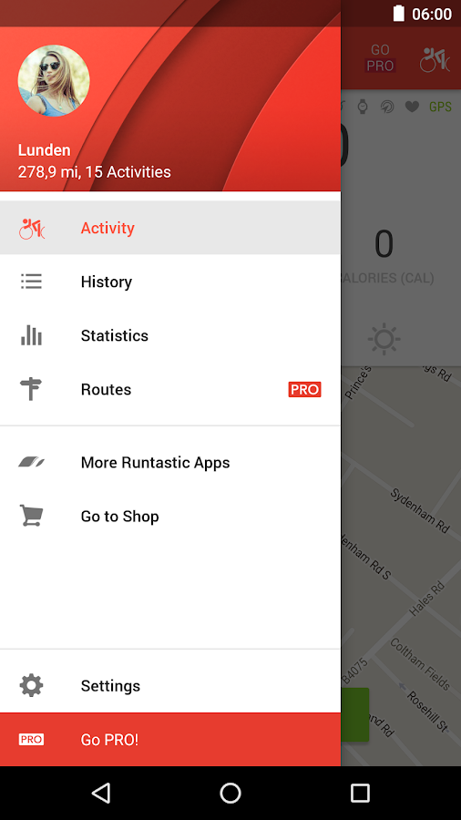 Runtastic Road Bike Cycling GPS Tracker- screenshot