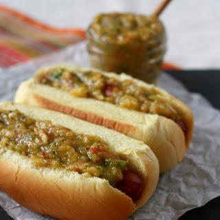 {30 second} Peach Jalapeño Salsa Dog.