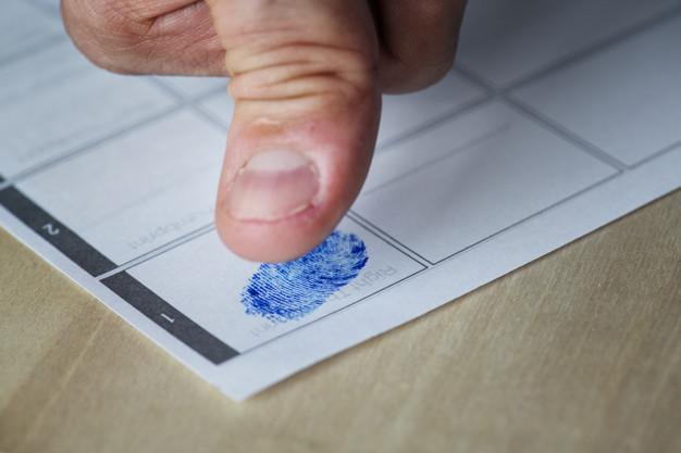 Checking finger print
