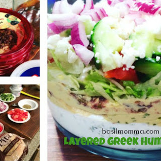 Layered Greek Hummus Dip