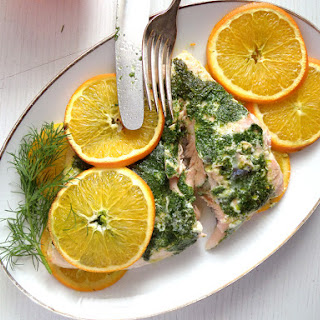 Orange Salmon with Dill and Orange Rice