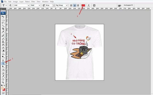 Thiết kế áo đồng phục bằng phần mềm photoshop online