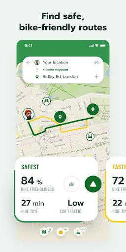Cyclers: Bike Map, Navigation & Tracker 6.4.0 screenshots 1