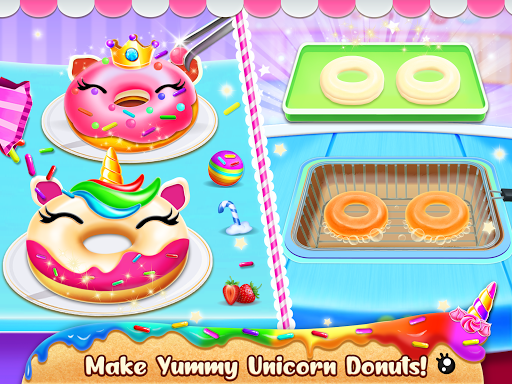 Unicorn Food Bakery Mania: Baking Games android2mod screenshots 16