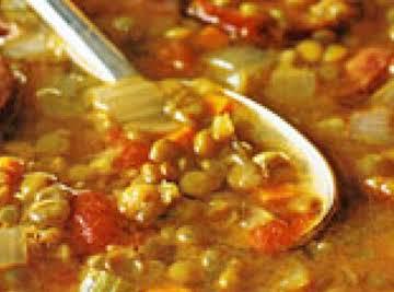 Italian Sausage and Lentil Soup