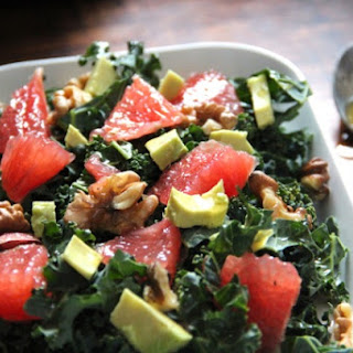Kale Salad with Grapefruit, Avocado & Walnuts