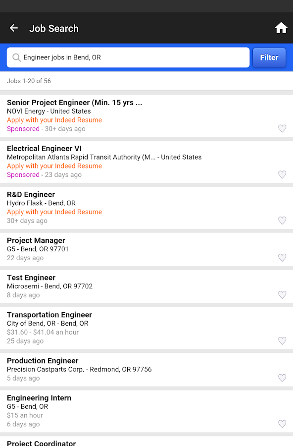 indeed job search screenshot - Indeed Resume