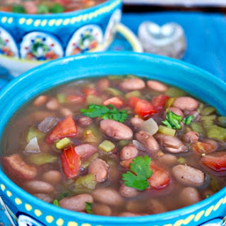 Mexican Pinto Beans {Slow Cooker}.