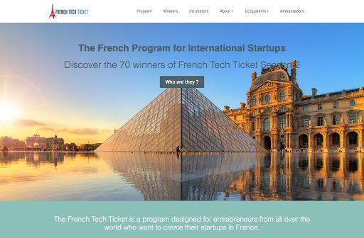création de site internet réalisé par French Tech Ticket