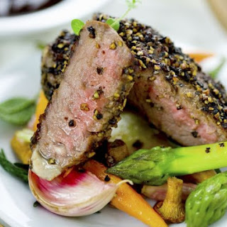 Peppery Steak with Vegetable Medley