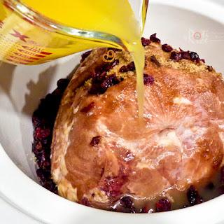 Slow Cooker Pineapple Cranberry Ham.