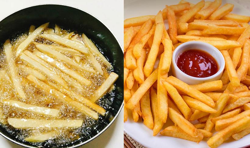 Cách chiên khoai tây giòn rôm rốp, ngon hơn ngoài hàng