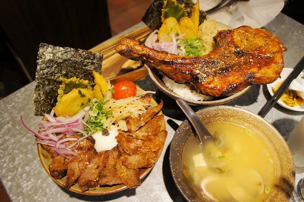 漂丿燒肉食堂-東區霸氣美味戰斧豬排丼飯