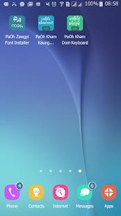 PaOh Zawgyi Font Installer screenshot