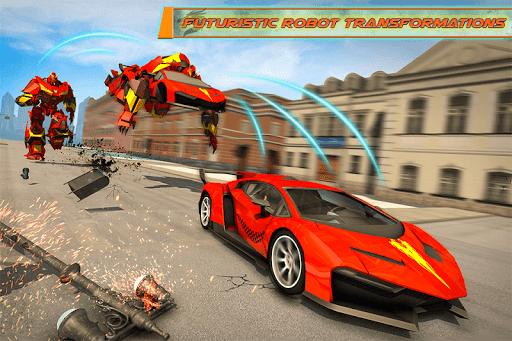Flying Dragon Robot Car - Robot Transforming Games 2.5 screenshots 1