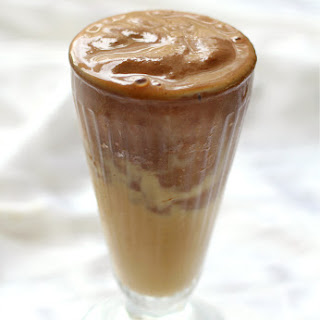 Peanut Butter Cup Protein Smoothie.