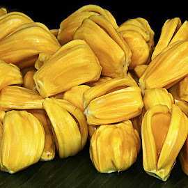 Jackfruit Jack Fruit Fruits of Thailand by James Morris - Food & Drink Fruits & Vegetables ( fruit, jack fruit, thailand, yellow, jackfruit )