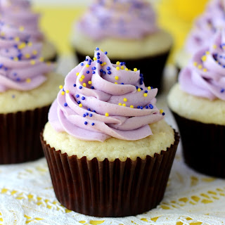 Blueberry Lemon Curd Cupcakes.