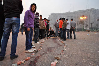 Photo: The trail of blood measured at least 25 meters long.