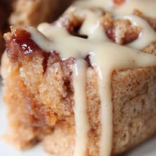 PB & J Rolls with Peanut Butter Yogurt Glaze.