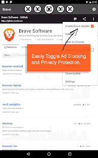 Brave Browser - Link Bubble- screenshot thumbnail