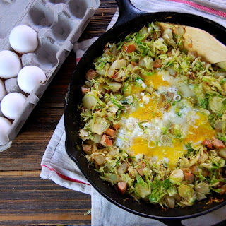 Brussel Sprout, Potato & Chicken Sausage Hash