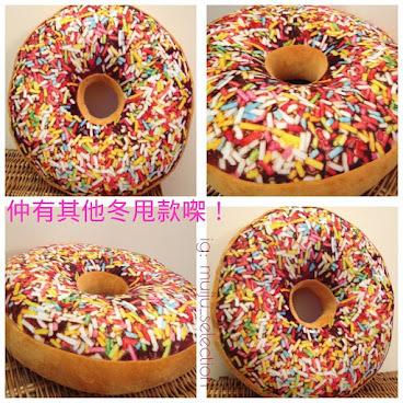 🍩吃貨必備 冬甩攬枕cushion🍩 doughnut抱枕~東華嘉年華獎品~熱門人氣禮物