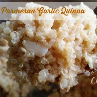 Creamy Parmesan Garlic Quinoa.