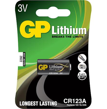 Batteri GP Lithium CR123A