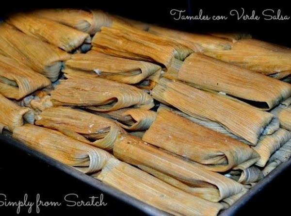 Pollo Tamales  Con Salsa Verde Recipe