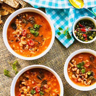 Pressure Cooker Nettle and Black Eyed Beans Soup Recipe