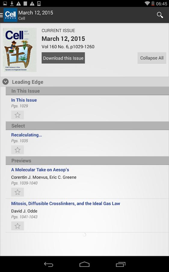 Cell Press Journal Reader- screenshot