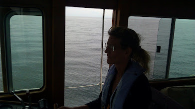 Photo: Lisa crusing us in to Canada
