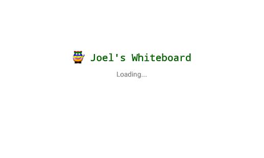 Joel's Whiteboard - náhled