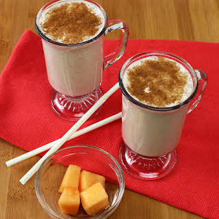 Cantaloupe and Banana Protein Rich Smoothie.