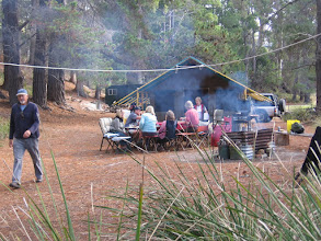 Photo: Birthday party, Sue's tent, Koonya