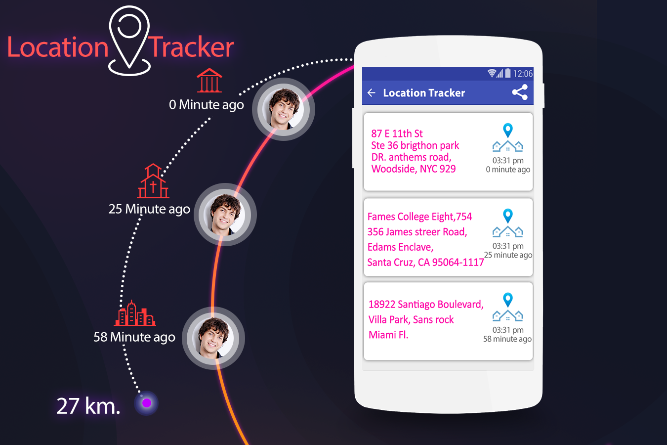 Live Mobile Location Tracker- screenshot